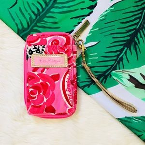 Lilly Pulitzer Pink wallet wristlet